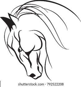 Horse head, Horse face, Horse logo