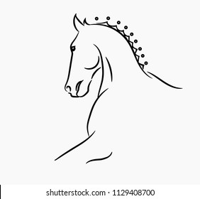 horse head graphic logo template vector stock vector royalty free