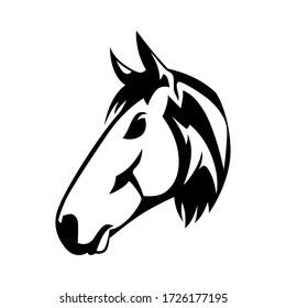 Horse head logo vector mascot design