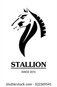 horse, horse head. side view of Elegant line art horse. Suitable for team Mascot,community identity,product identity,corporate identity,illustration for apparel,clothing, etc