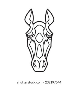 Outline Drawing Horse Saddle Stock Vector (Royalty Free) 177241259 ...