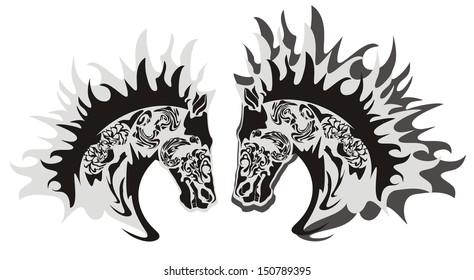 Horse head symbol, vector