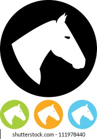Horse head - Vector icon isolated