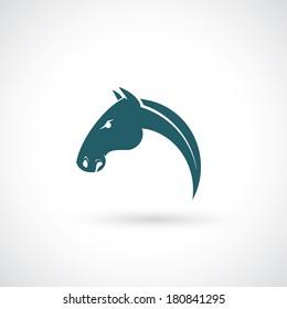 Horse head - vector illustration