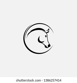Horse head vector illustration on a white background