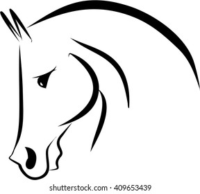 Horse head vector symbol logo