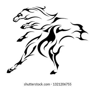 horse hooves black cloak tattoo symbol