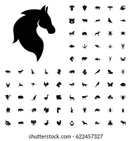 Horse icon illustration isolated vector sign symbol. animals icons vector set. on white background