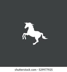 horse icon isolated on black background