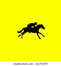 horse icon. isolated sign