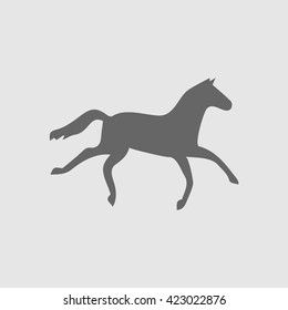 Horse icon. Horse vector. Horse symbol. Horse logo. Running horse simple isolated vector icon. Vector illustration