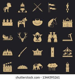 Horse icons set. Simple set of 25 horse vector icons for web for any design