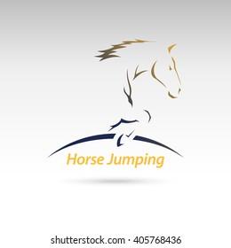 Horse Jumping Logo