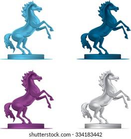 horse jumping.vector illustration