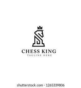 Horse king logo design vector template