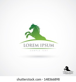 Horse label - vector illustration