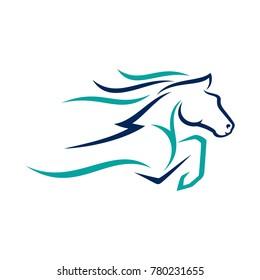 horse line art logo vector