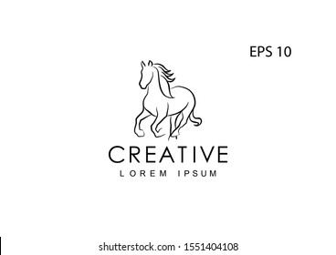 Horse logo for a company, vector illustration.