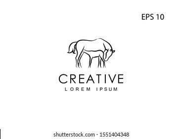 Horse logo for a company, vector illustration.