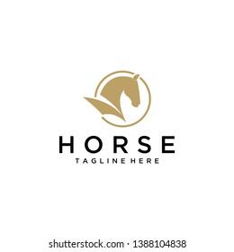 Horse Logo Concept Gold Circle
