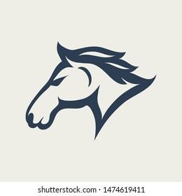 horse Logo Design icon illustration