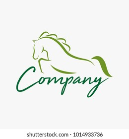 Horse logo design illustration, Horse silhouette vector, Horse vector illustration