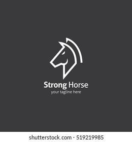 Horse logo design template. Vector illustration