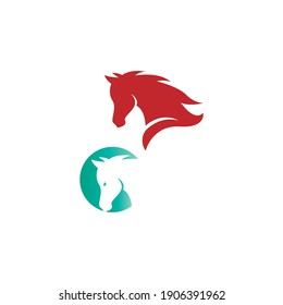 Horse logo icon design template vector illustration