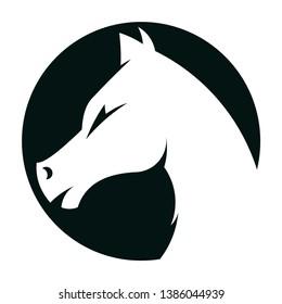 horse logo icon.  vector template