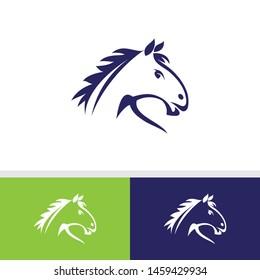 Horse Logo symbol - vector icon - Animal logo horse