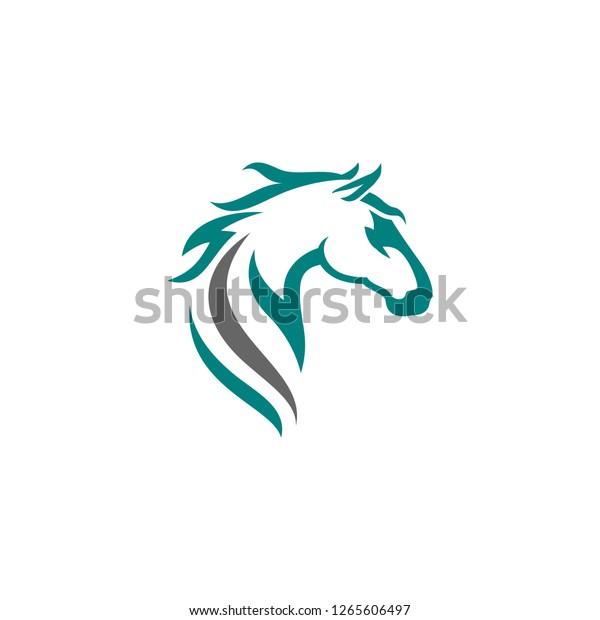 Vorlage Fur Das Logo Fur Pferde Stock Vektorgrafik Lizenzfrei 1265606497