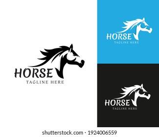 horse logo horse template black vecktor beauty horse