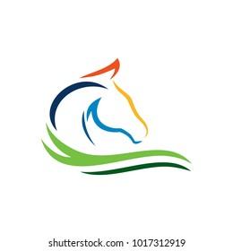 Horse Logo Template Stock Photo