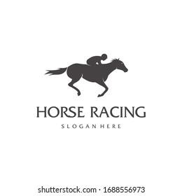 Horse logo template symbol for business. Horse racing logo