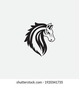 Horse Logo Template Vector icon illustration design