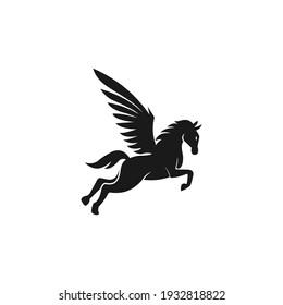 horse logo vector and icon
