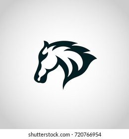 Horse logo vector icon design