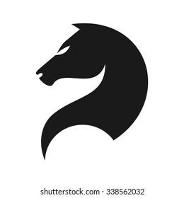 horse logo vector. icon template.
