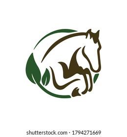 Horse logo vector illustration. Horse logo design template