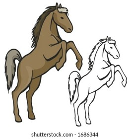 Horse Mascot for sport teams. Great for t-shirt designs, school mascot logo and any other design work. Ready for vinyl cutting.