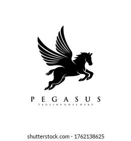 Horse Pegasus Logo Design Template5
