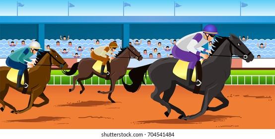 horse race in racecourse