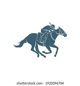 Horse racing design vector illustration, Creative Horse race logo design concepts template, icon symbol