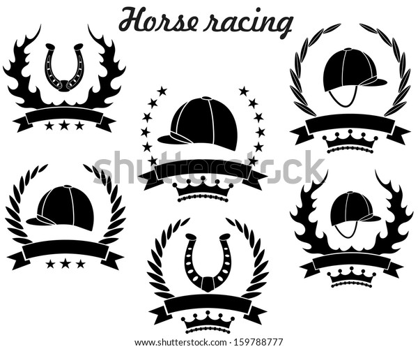 Horse Racing Logo Isolated Horse Racing Stock Vector Royalty Free 159788777