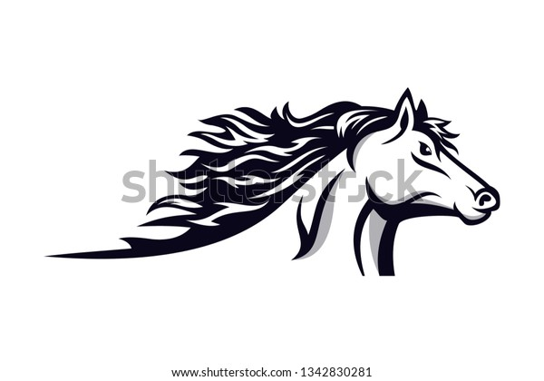 Horse Racing Logo Vector Horse Logo Stock Vector Royalty Free 1342830281