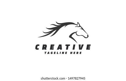 Horse Racing Logo. Vector file