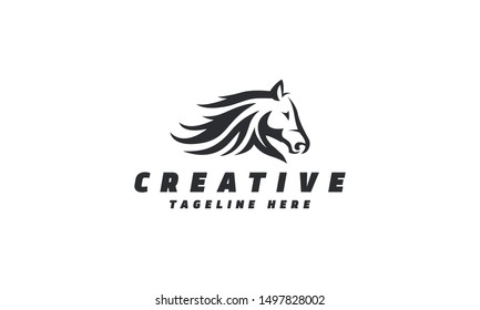 Horse Racing Logo. Vector file