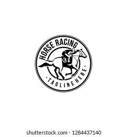 Horse Racing logotype templates vector