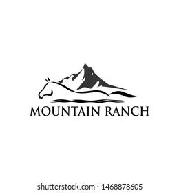 the horse ranch logo design concept