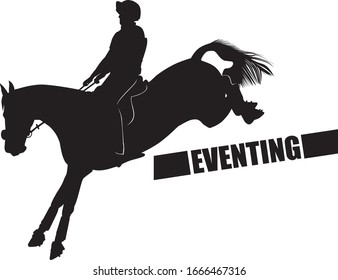 Horse and Rider in Eventing Competition
